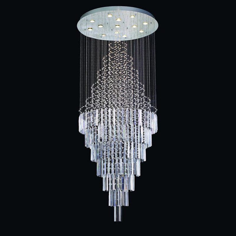 Modern LED Rain Drop Crystal Chandelier Luxurious Pendant Flushmount - Chandelier drop crystals