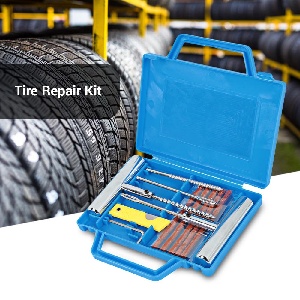 Heavy Duty Tubeless Tire Tyre Puncture Repair Kit Car Van ...