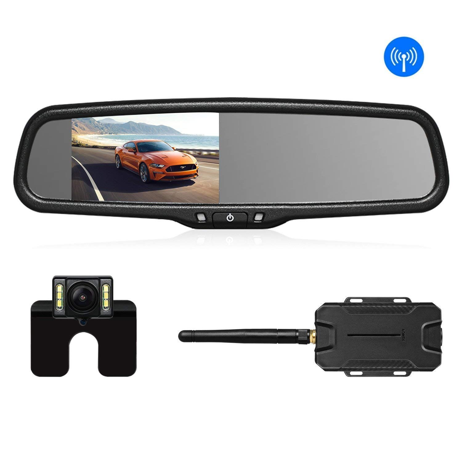 Waterproof 170° Car Rear Front Side View Camera Backup Reverse Cam Mirror Image Car Video Mouldings & Trim