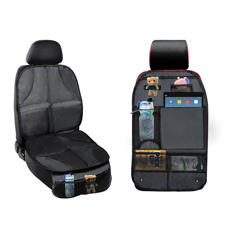 Back Of Seat Storage Protector Organizer For Kids Cover Kick Auto Rear 2 Pack