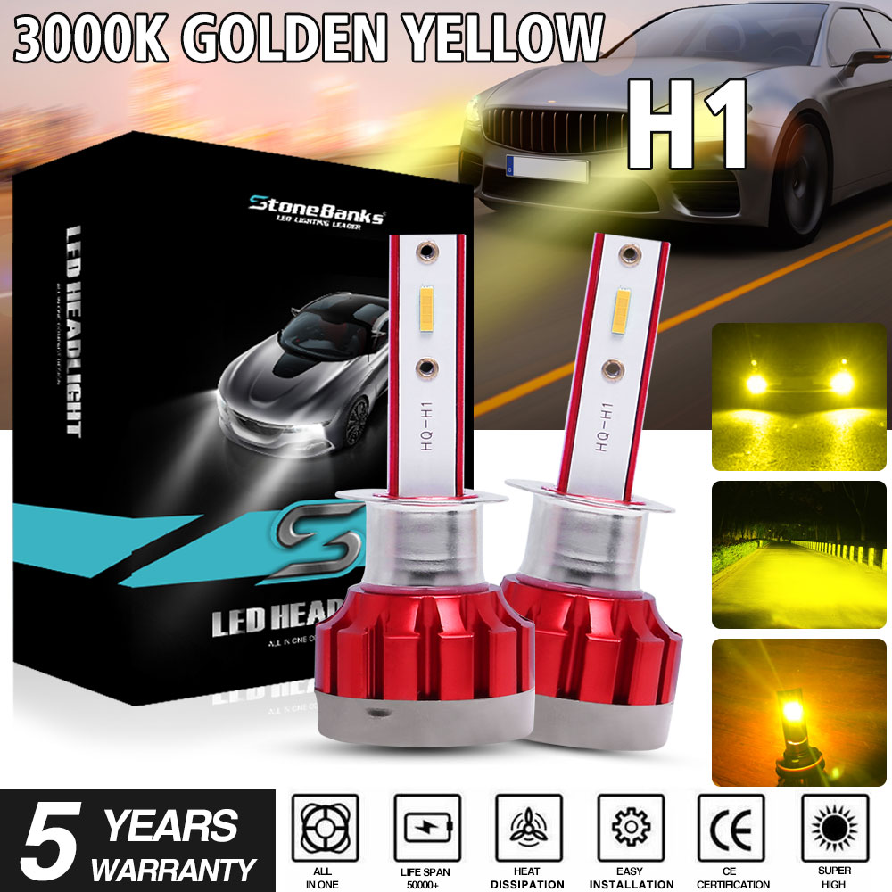 HQ Automotive H7 H1 low high beam headlight bulbs lights lamps XENON LOOK D