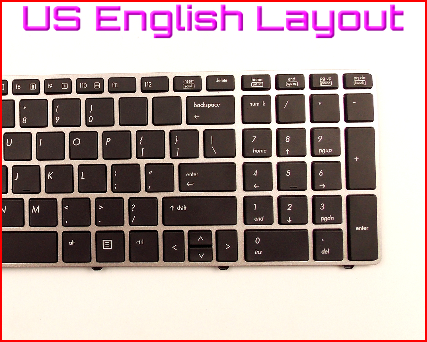 New For HP 701986-001 701986001 US Keyboard With Frame W//pointer