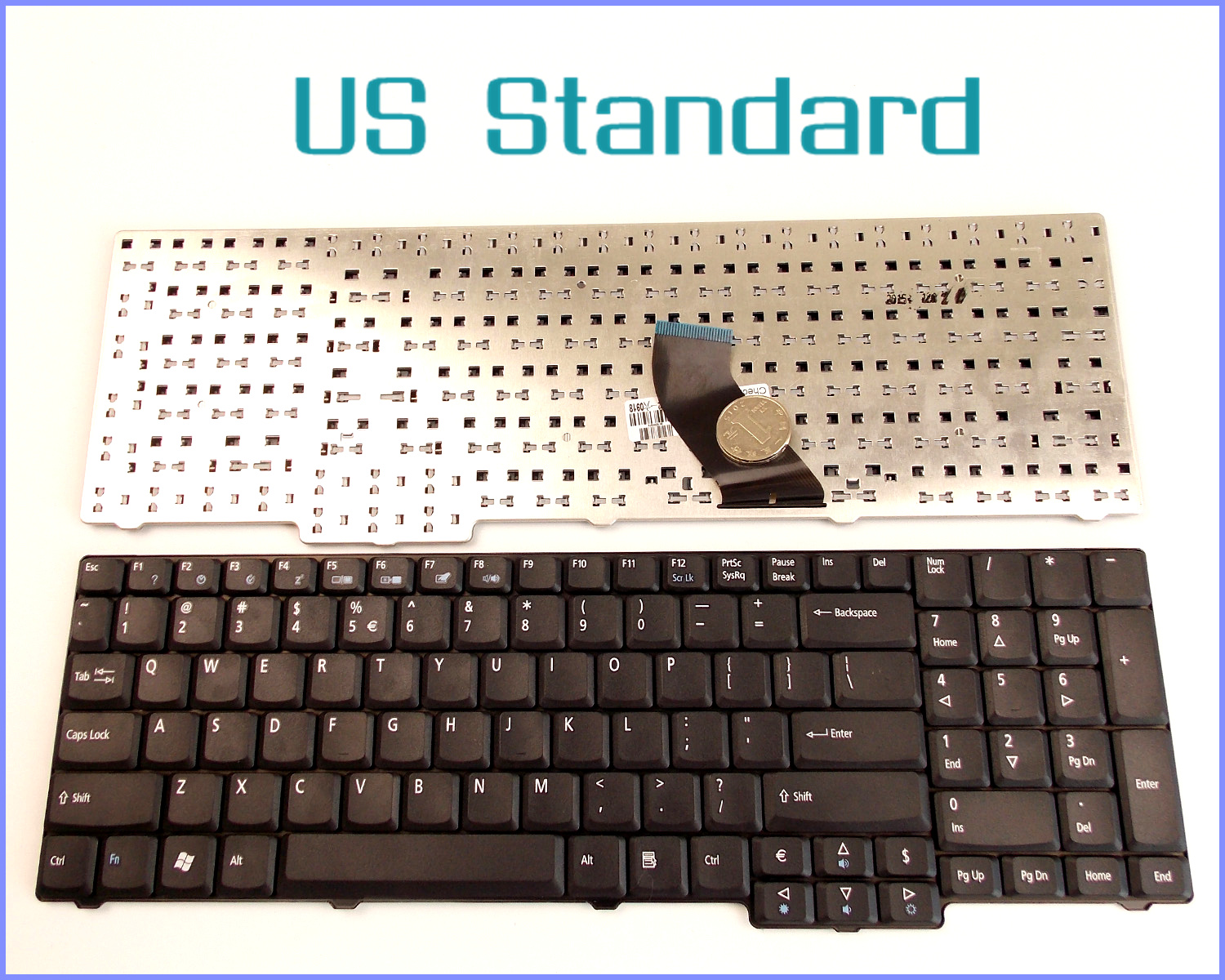 Laptop Us Layout Keyboard For Acer Aspire 7000 7001 7002 7003 7004 Parts Diagram