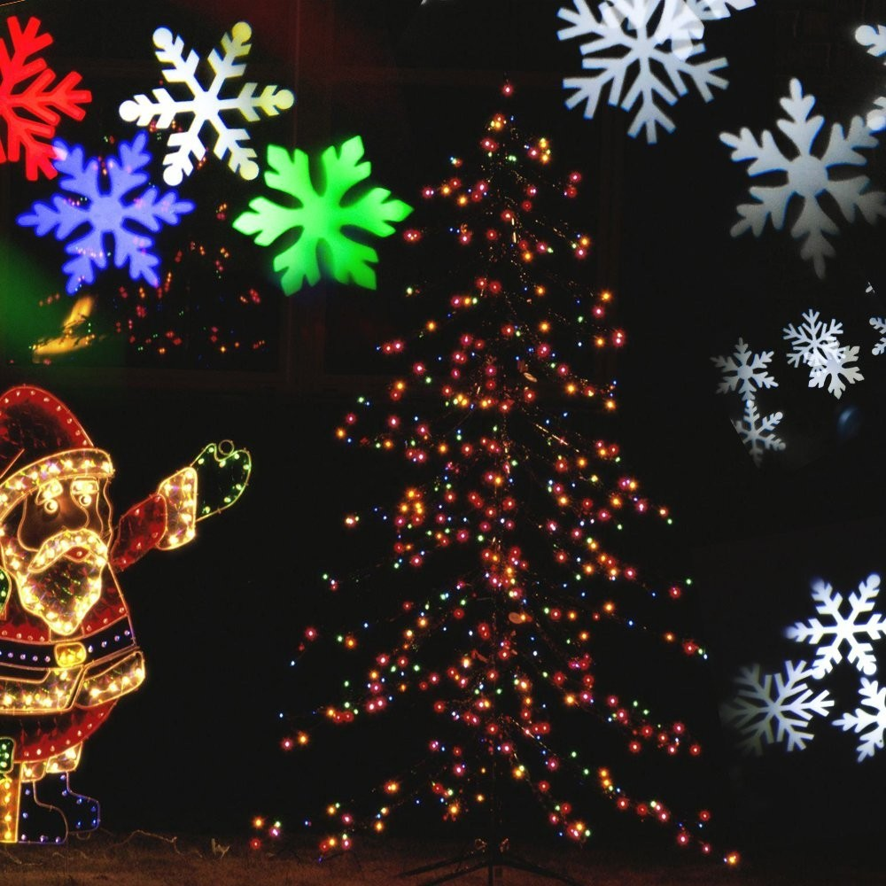 Details Of Cheap Outdoor Christmas Laser Lights Christmas: LED Snowflake Projector Moving Laser Light Outdoor Indoor