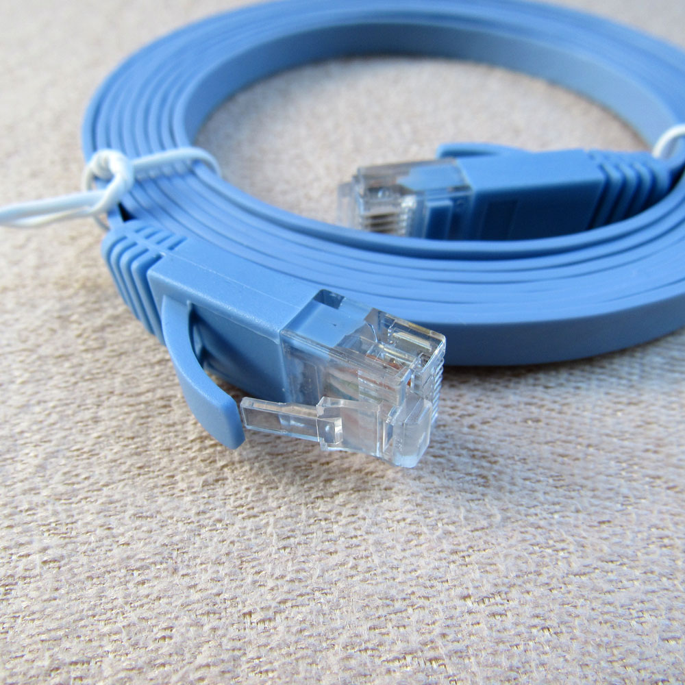 1.5ft, Blue Cat6 Ethernet Patch Cord UTP Internet Cable Red Green White Gray Blue Black LOT