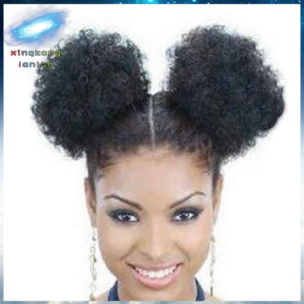 2pcs black afro hair bun kinky puff curly drawstring ponytails 2pcs black afro hair bun kinky puff curly drawstring ponytails extension pmusecretfo Images