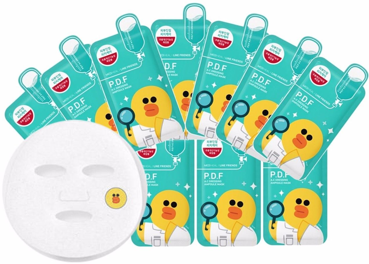 Mediheal Line Friends Pdf As Dressing Ampoule Mask 10pcs Korea