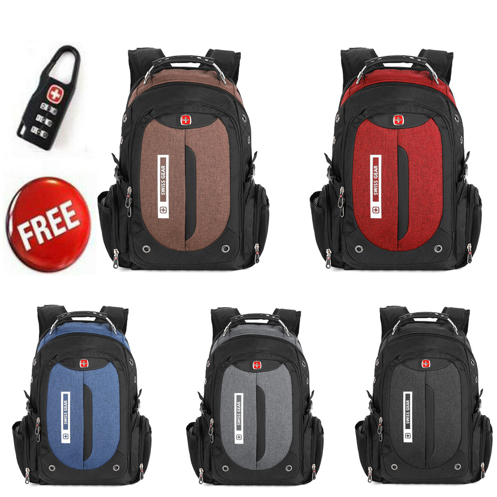 35L SWISSGEAR Waterproof Backpack Rucksack Travel Sports Bag Schoolbag Daypack