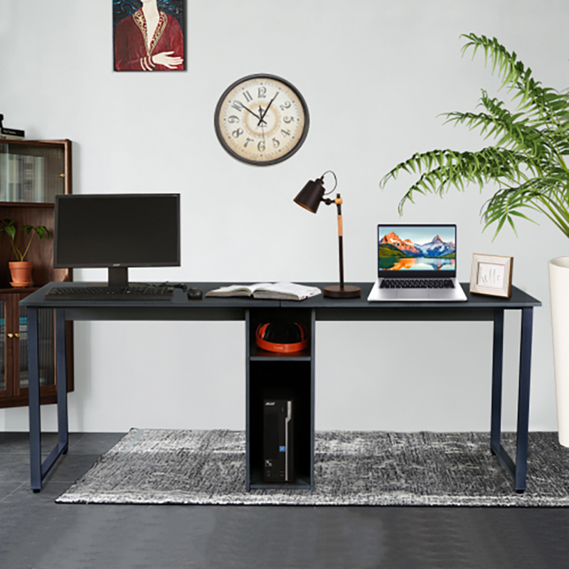 Home Office Double Workstation Computer Desk 2 Person Writing Desk With Storage Ebay