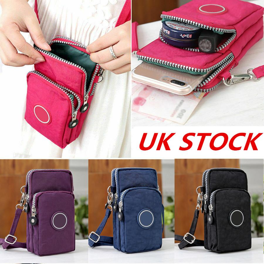 Women Cross-body Wallet Coin Cell Phone Case Multi Pocket Messenger Shoulder Bag