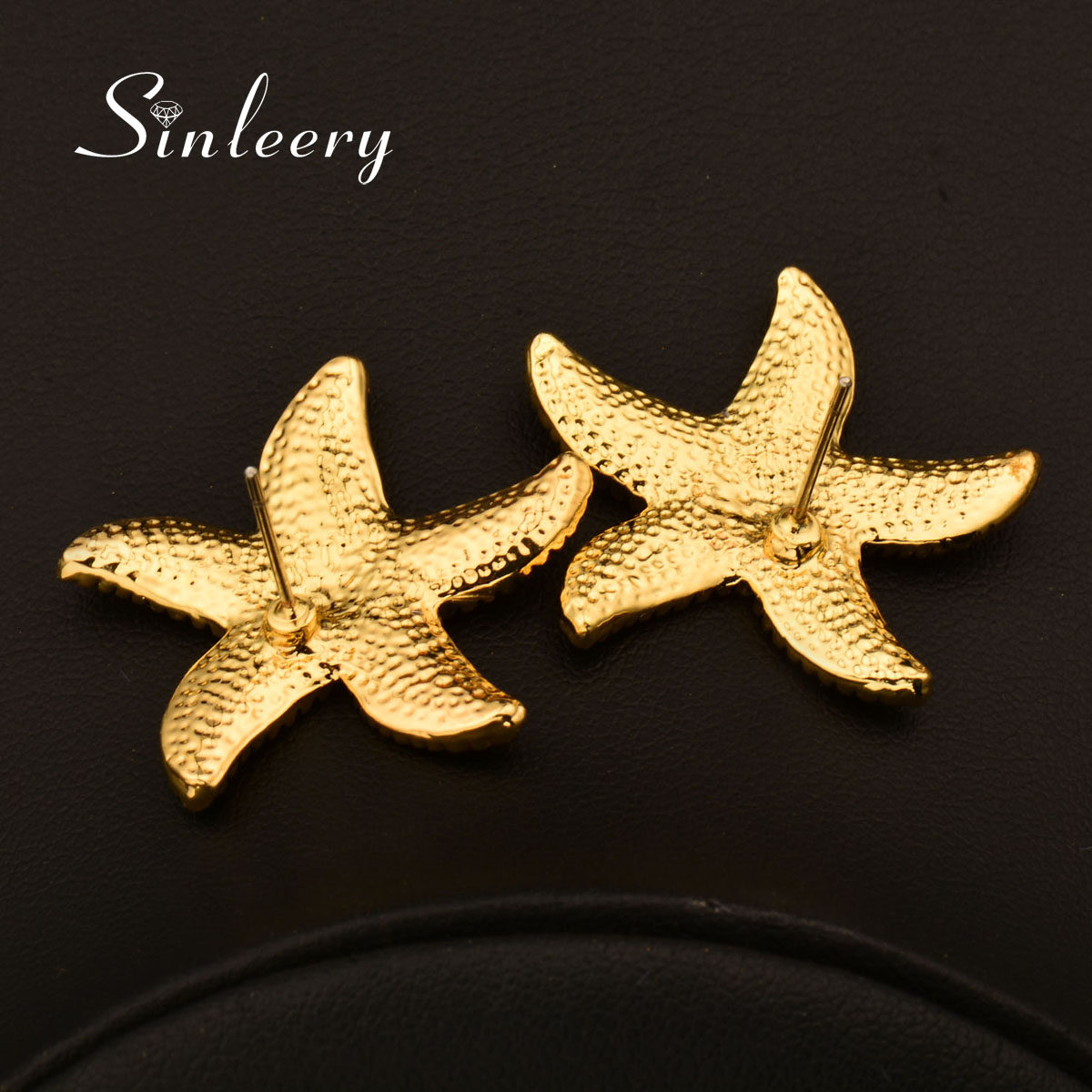 Details About Fashion Zircon Starfish Earrings Stud For Women 18k Yellow White Gold Es651