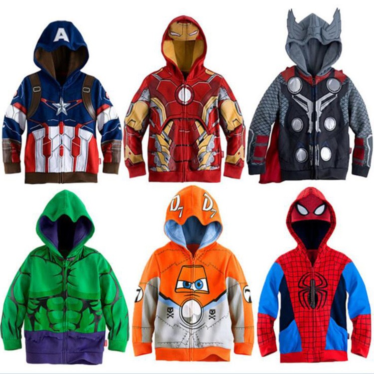 Autumn Winter Scarlet Spider Zip Up Hoodie Man Hoodies Sweatshirts Superhero Cosplay Hooded Coats Zipper Spiderman jacket