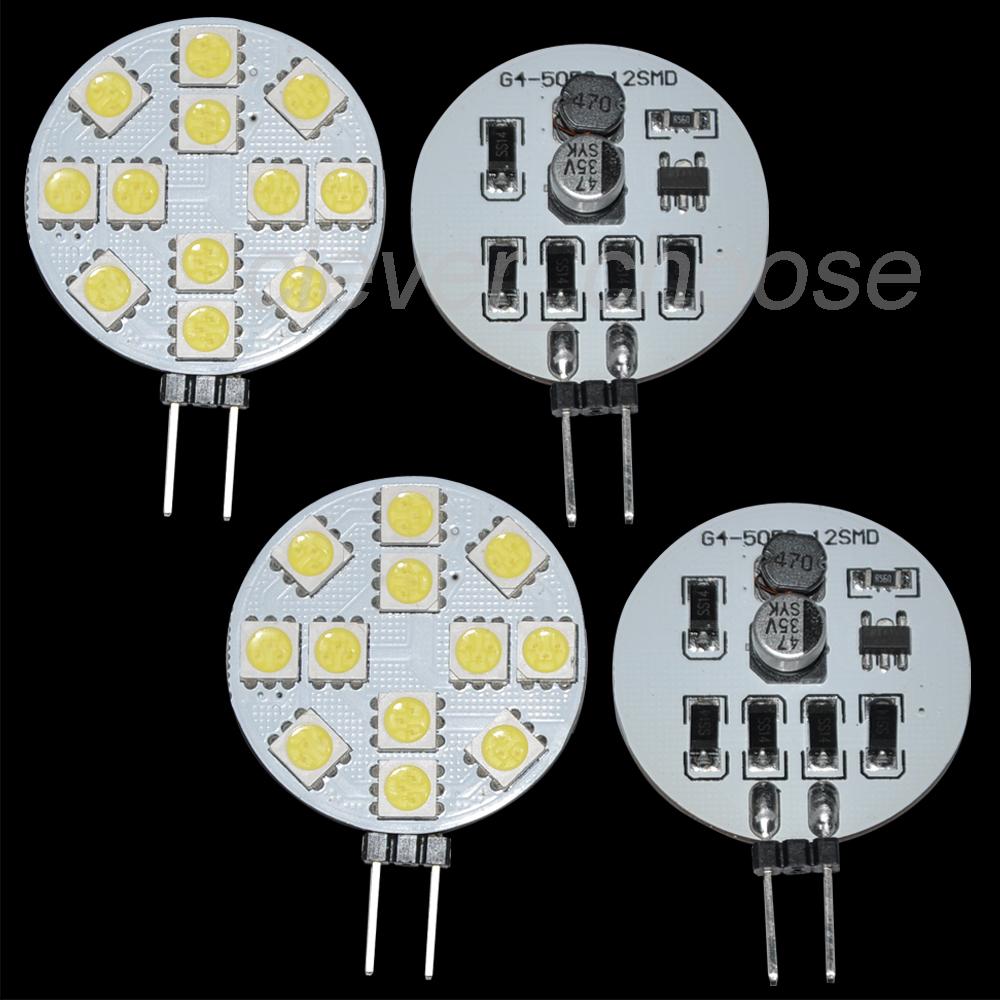 4x G4 LED Lampe 2W 180lm warmweiss Birne Leuchtmittel 12-5050 SMD DC//AC10-24V