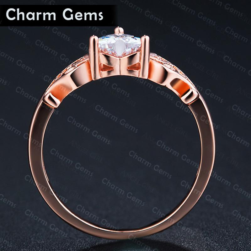Plated 18K Gold Diamond Ring Girl Earrings Birthday Wedding Gift ...
