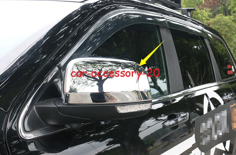 Chrome 2pcs Side Door Mirror Sun Rain Guard Cover For Cadillac XT4 2018 2019