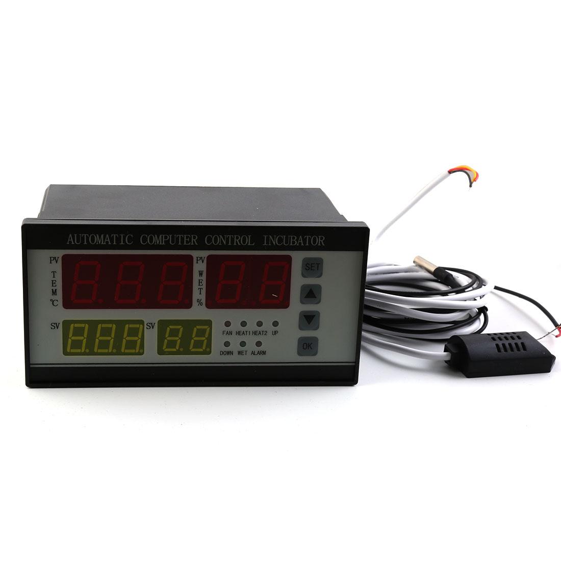 220v Digital Clear Egg Incubator Hatcher Automatic Turning Heat Sensor Temperature Control
