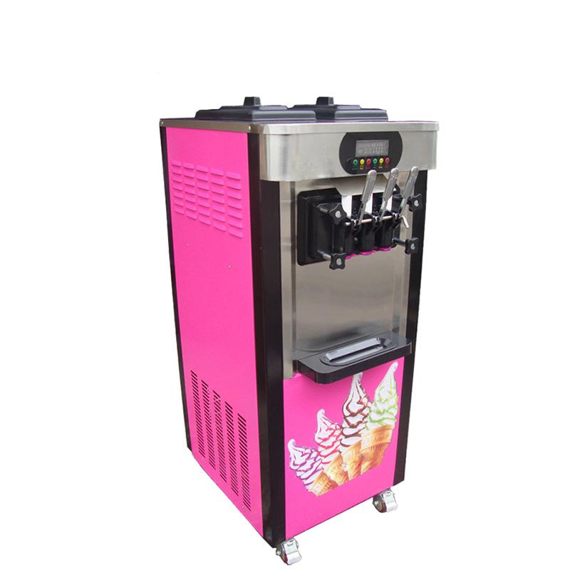 Frozen Ice Cream Machine Part - 50: 3 Flavor Commercial Frozen Ice Cream Cones Machine Soft Ice Cream Machine