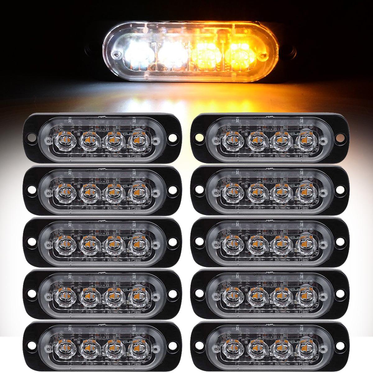 Command Electronics Amber LED 2.5 Truck Trailer RV Side Marker Light//Amber Lens