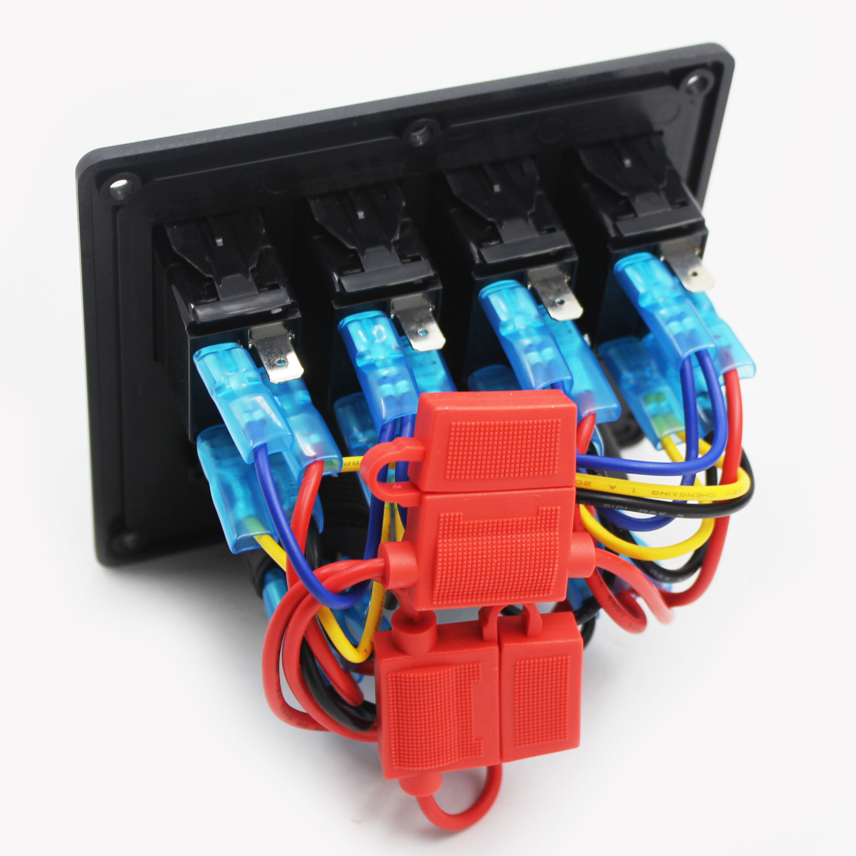 4 Gang Led Waterproof Usb Toggle Automotive Switch Panel Rv Marine Wiring Boat Rocker