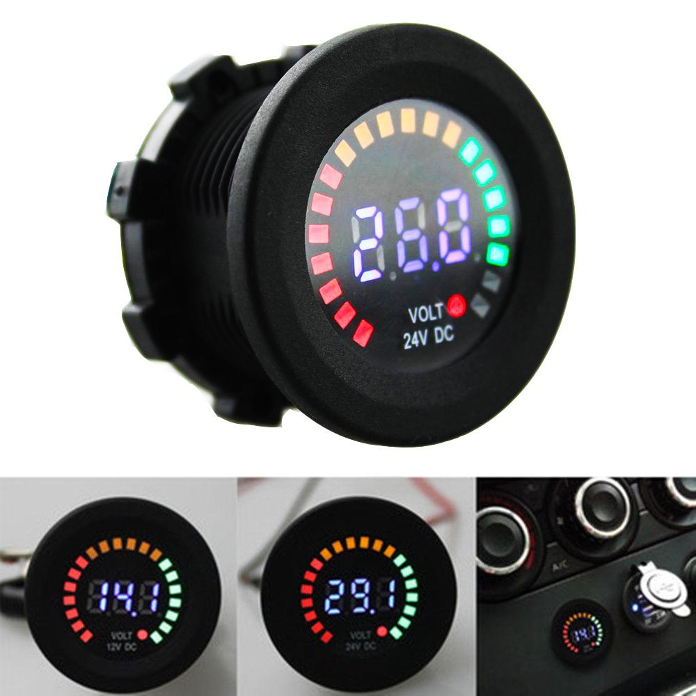 Car Battery Voltage >> Car Digital LED Volt Gauge Meter Voltage LED Panel ...