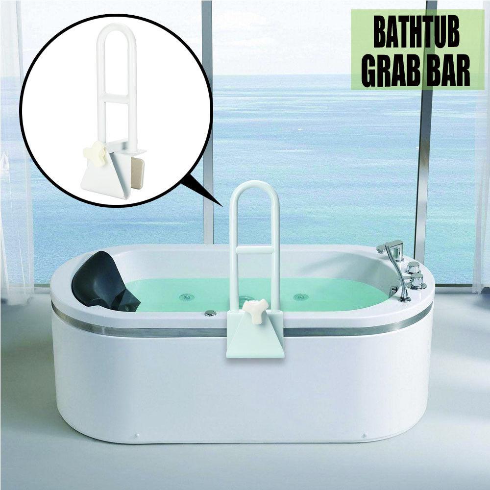 Bathtub Safety Bar Rail Grab Bath Shower Handle Tub Handicap ...