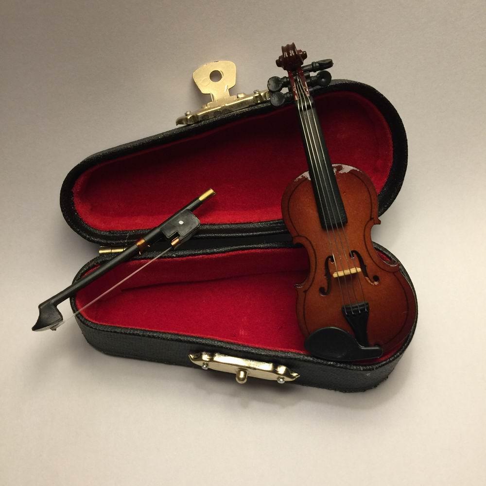 2pcs Rhinestone Antqiue Violin Brooch Pin Clothing Accessories Jewelry