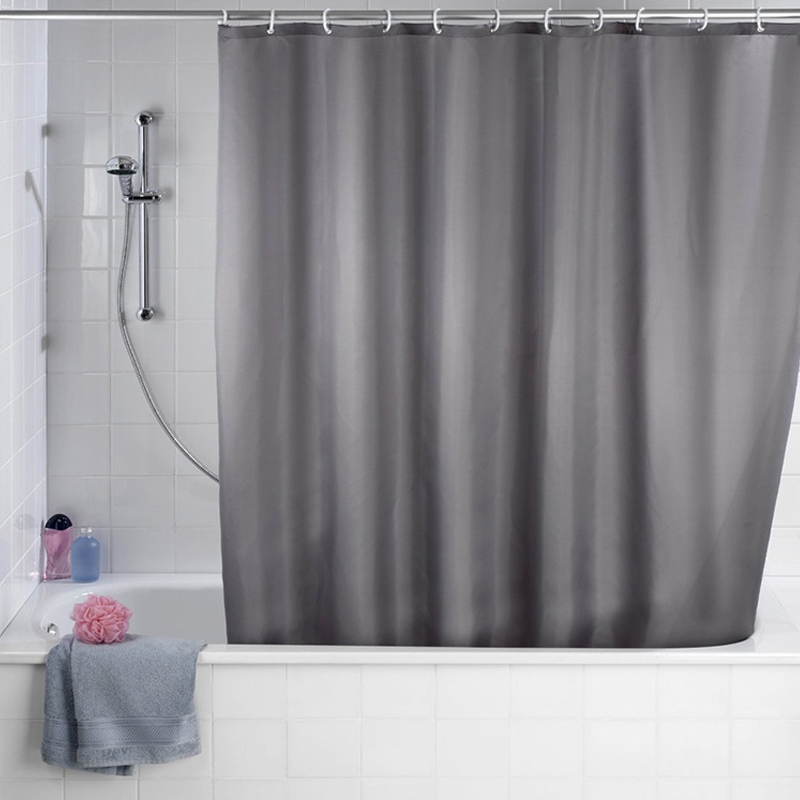 Details About Polyester Waterproof Fabric Bathroom Shower Curtain Sheer Panel Decor With Hooks