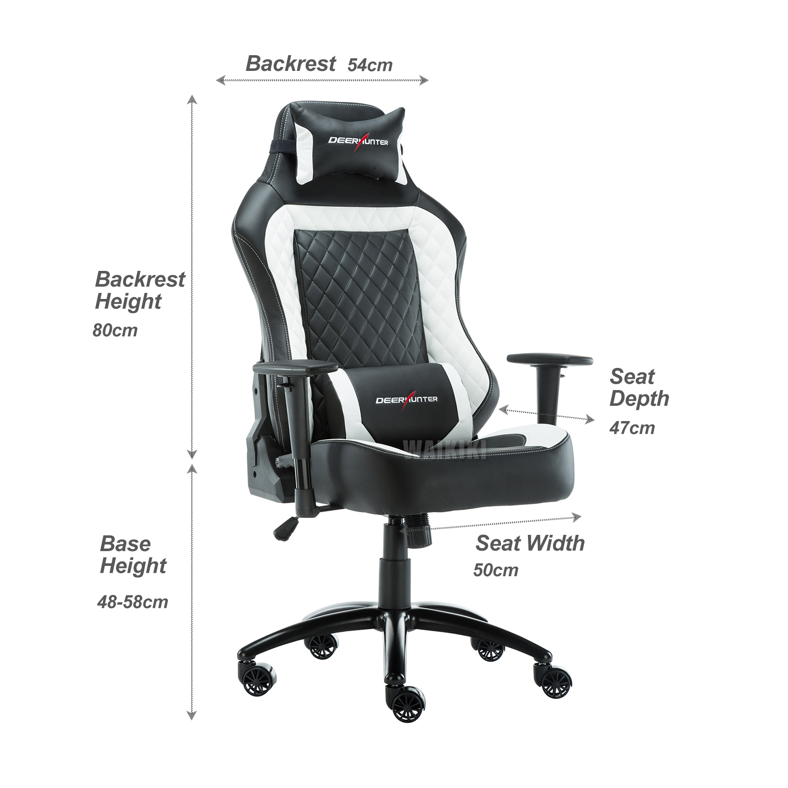 Sport Faux Leather Reclining Gaming Racing fice Chair Ergonomic