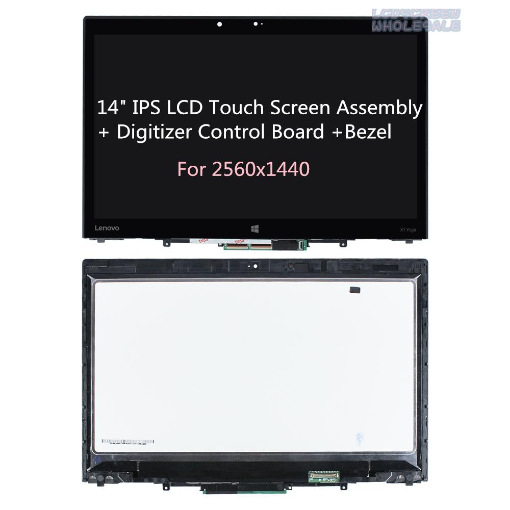 "Lenovo ThinkPad X1 Yoga 20FR 20FQ Lcd Touch Screen w// Bezel 14/"" QHD 00UR191"