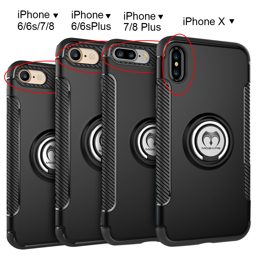 accessories for iphone 6 plus for iphone x 6 6s 7 8 plus shockproof ring hybrid 6097