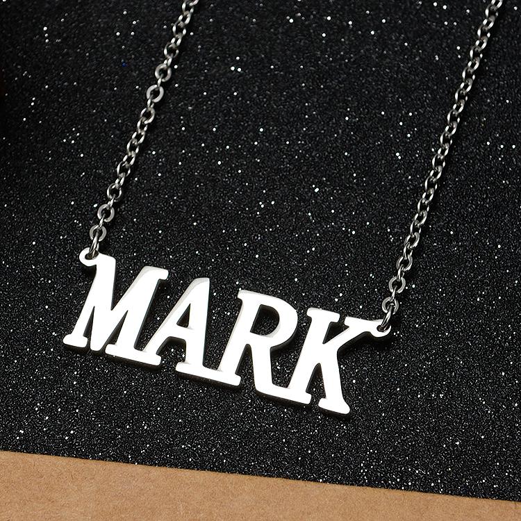 Korean Fashion kpop GOT7 Nom Lettre acier inoxydable collier pendentif fans cadeau
