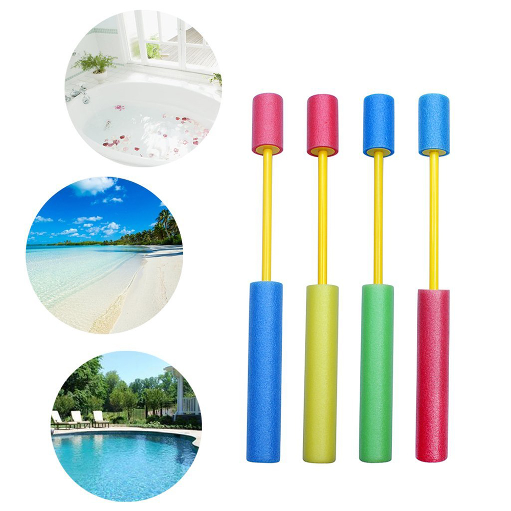4x 35.5cm Poolkanone Wasserpistole Wasser Pool Pistole für Badespass Poolparty