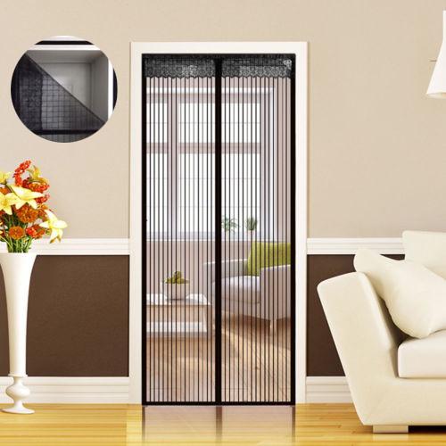 magnet fliegengitter t r insekten vorhang fliegenvorhang klettband fassung neu ebay. Black Bedroom Furniture Sets. Home Design Ideas