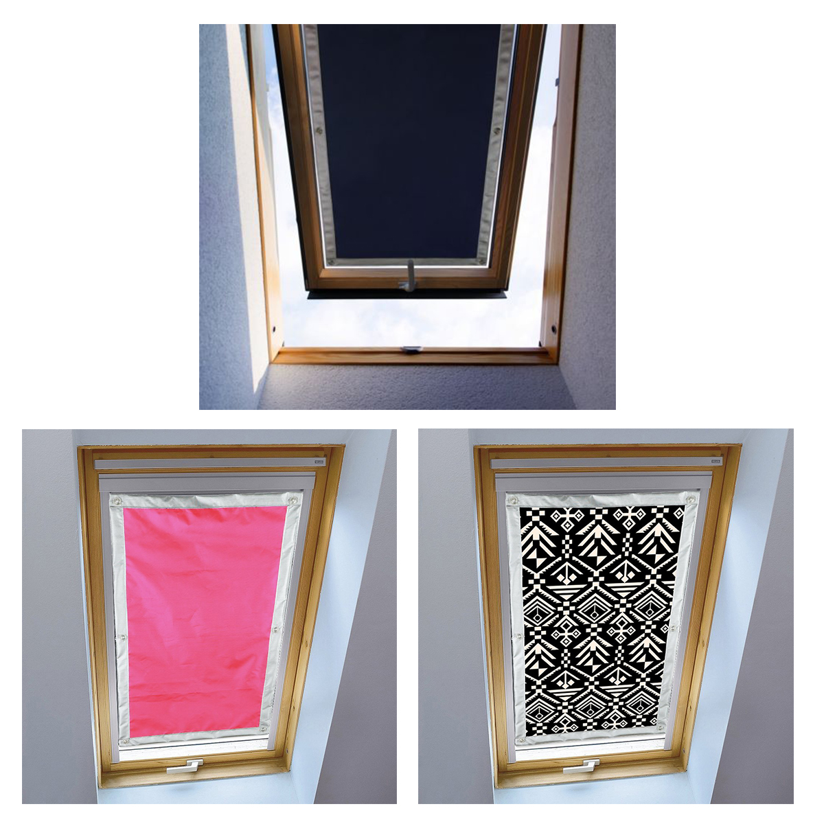 fensterrollo verdunkelungsrollo sonnenschutz dachfenster saugn pfe 97 anti uv ebay. Black Bedroom Furniture Sets. Home Design Ideas