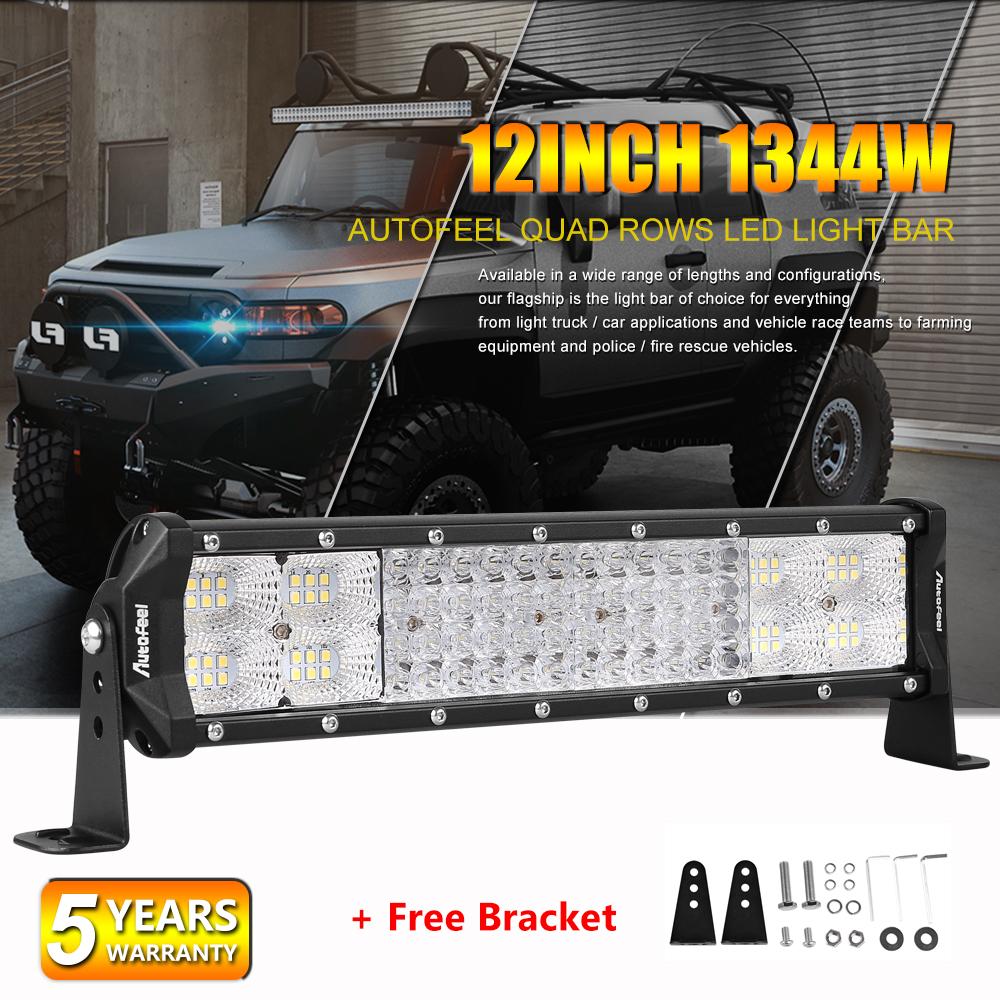 12inch 72W LED Light Bar Work SPOT FLOOD Combo Beam Bumper Fog Lamp 4WD CAR ATV