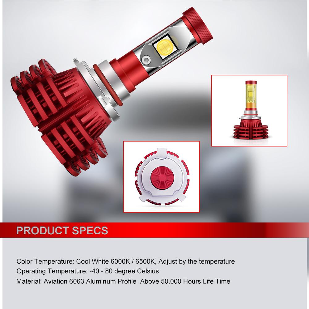 New 9005 HB3 9145 9045 H10 LED Headlight 6000K High Beam Fog DRL Bulbs White X6