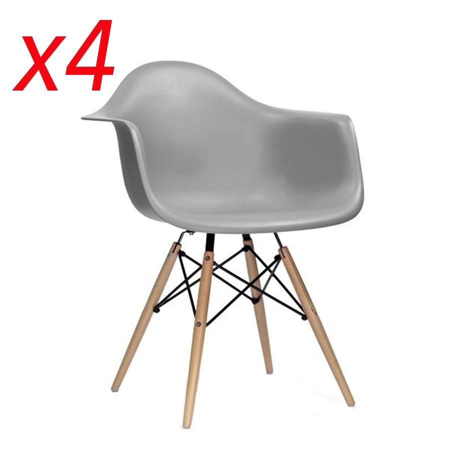 4/8er Grau Esszimmerstuhl Küchenstühle Retro Sessel Bürostühle ...