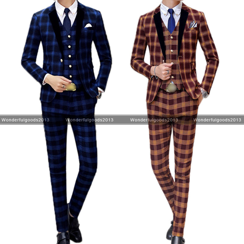 Suits in Theme:Prom, Pattern:Check, Jacket Length:Regular | eBay