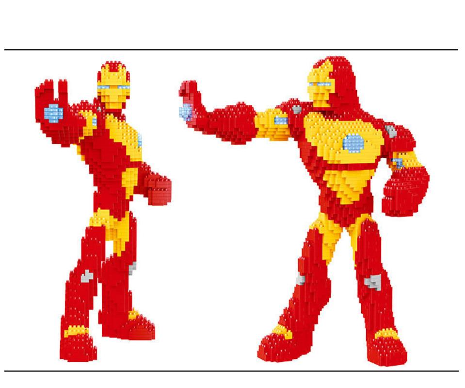 Baukästen Eisen Super Hero Film Spielzeug Figur Geschenk Modell Kind 2110PCS