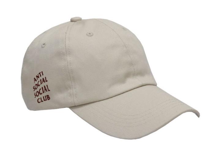 Anti-Social-Social-Club-Brief-Kappe-Baseball-Kappe-Einfarbig-Paar-Hut-Muetzen
