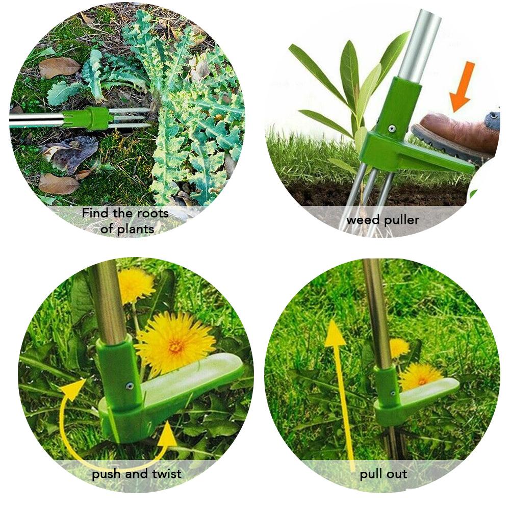 Weed Puller Weeder Twister Garden Lawn Root Remover Killer Grabber Hand Tool 3RF