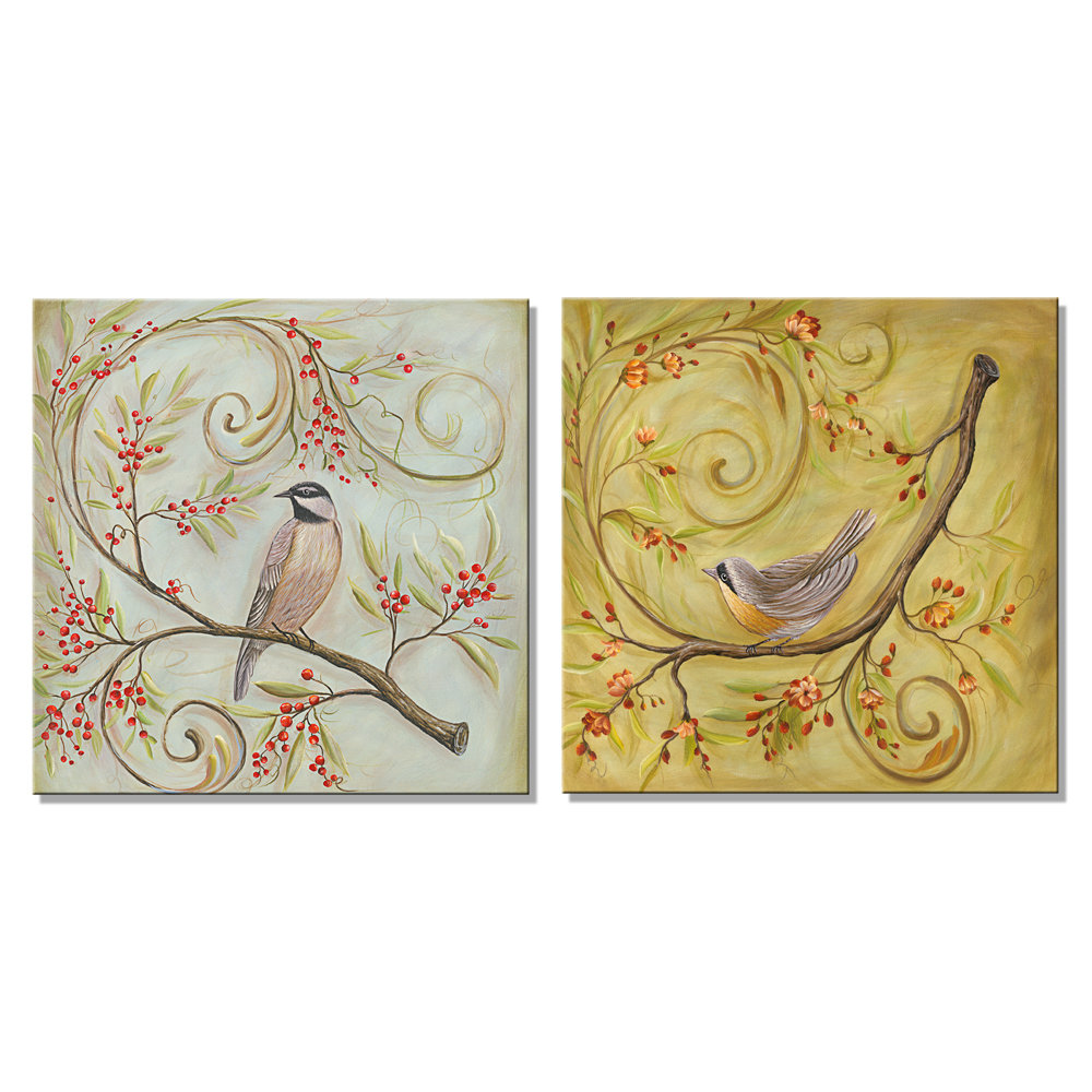 Canvas Print Painting Pictures Home Decor Wall Art Landscape Birds ...