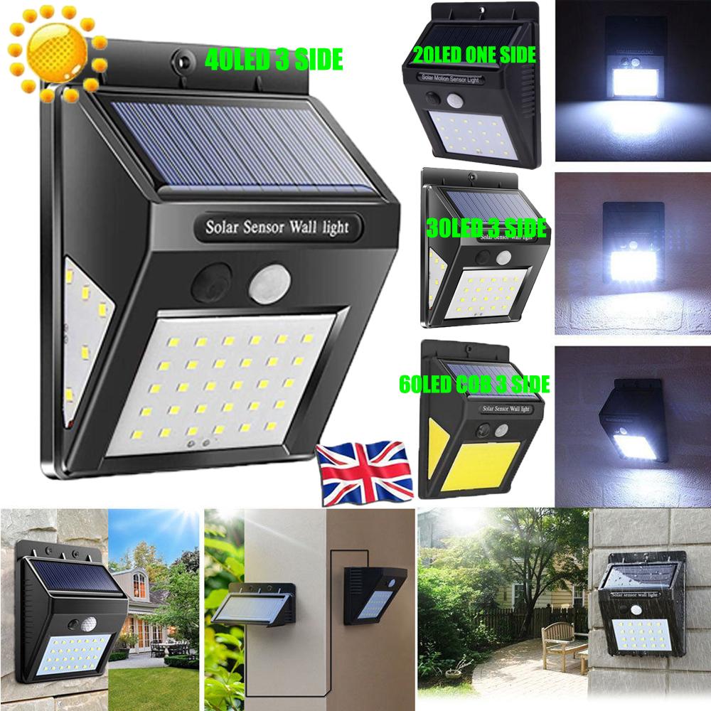 Outdoor Waterproof 6 LED Solar Power PIR Motion Sensor Wall Light Garden Lamp JT