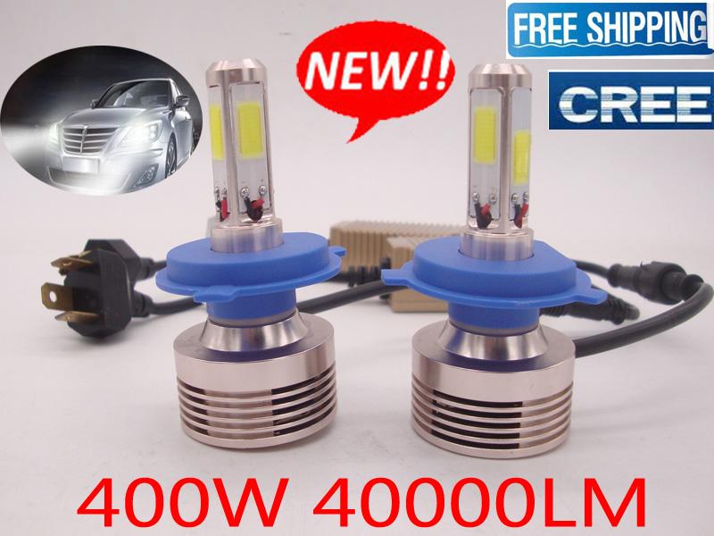 Cree 4 Sides Led 400w 40000lm Headlight Bulb Kit Car Lamp