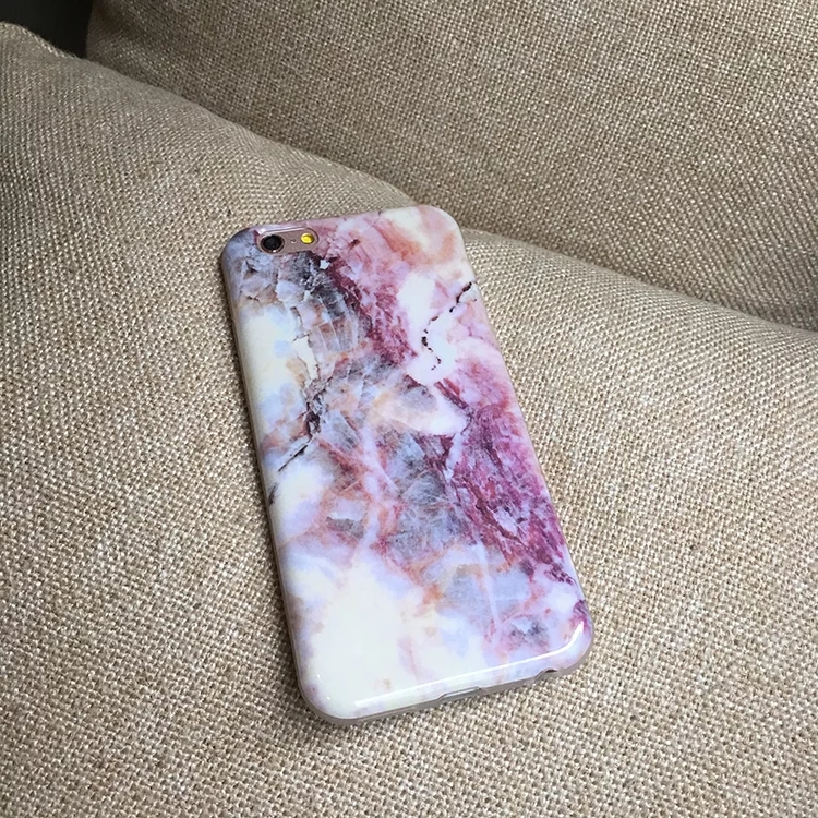 Purple Crystal Marble Pattern Effect iphone case