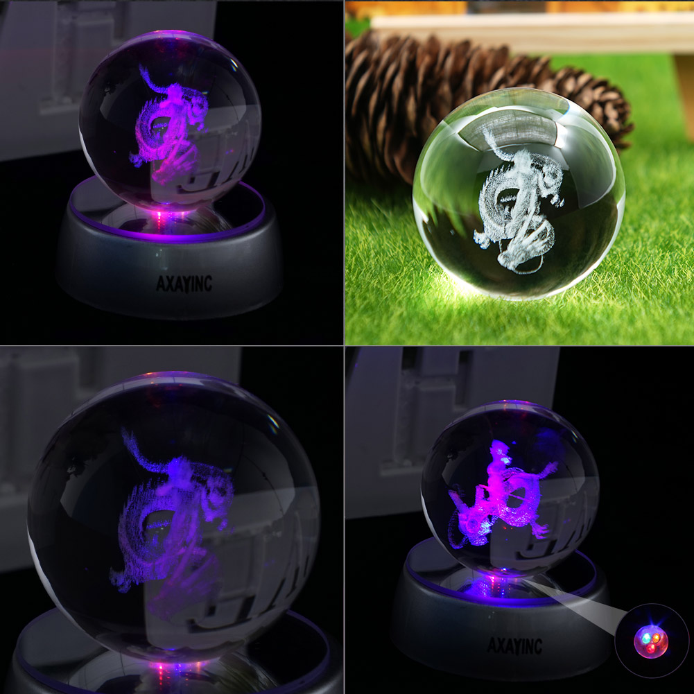 Dragon Ball Z Son Goku 3d Led Crystal Night Light Table