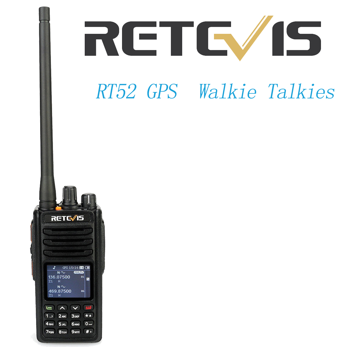 Details about Retevis RT52 GPS Digital Dual Band UHF/VHF 4000CH SMS VOX  Emergency 2-Way Radio