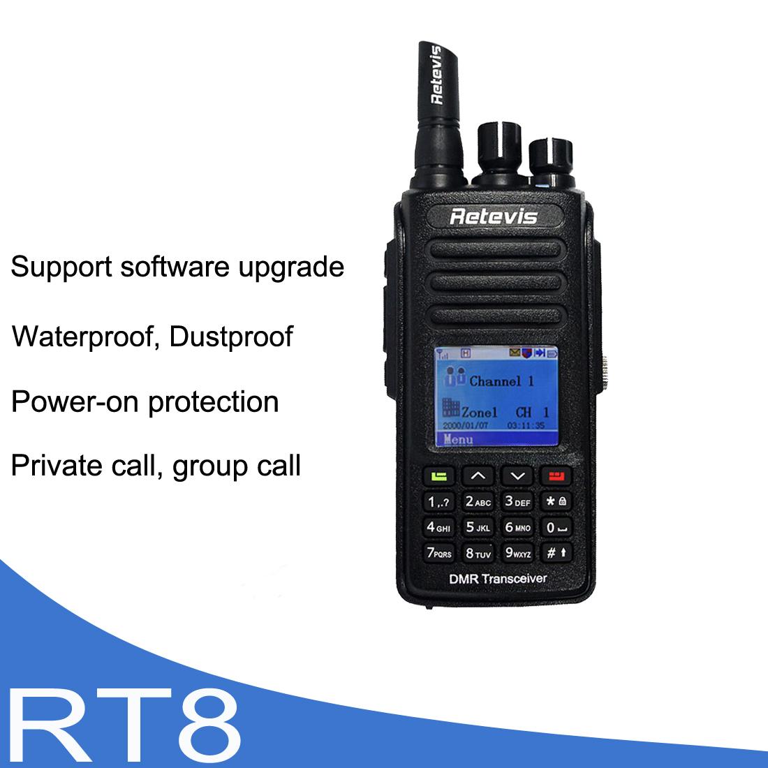 Details about RetevisRT8 DMR Digital Walkie Talkie Encryption VHF  TDMA1000CH ScanAnalog Radio
