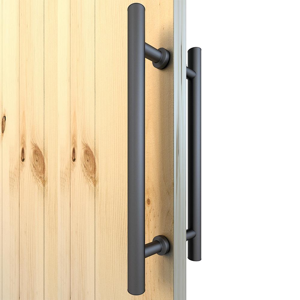 1X Barn Door Handle Sliding Flush Pull Wood Door Gate Hardware Stainless-Steel!