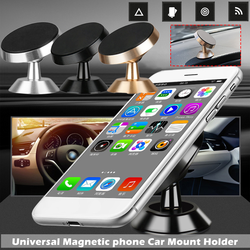 Multi Function Smart Mobile Phone Stand Holder Dashboard Gps Mount Car Magnet Ac Magnetic